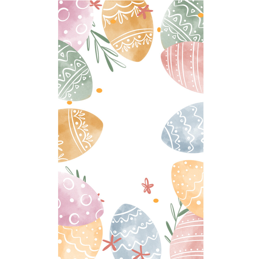 Digital file Instagram Easter Story Cartoon Border