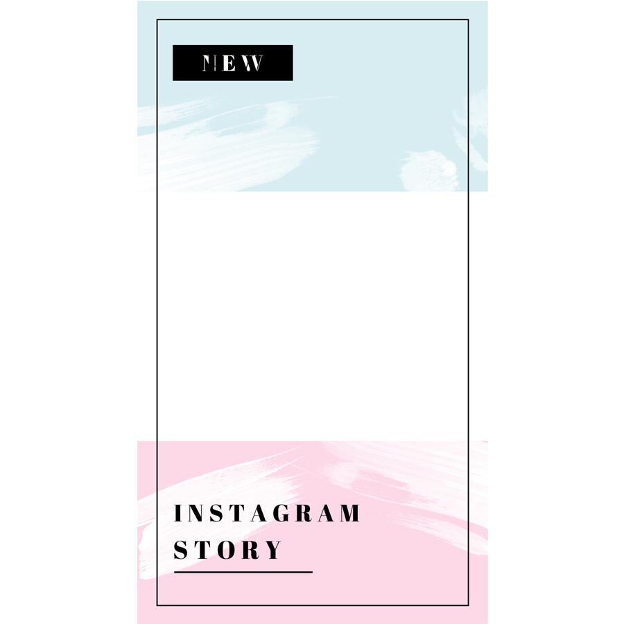 Digital file Instagram Fresh Color Advertising Display Frame