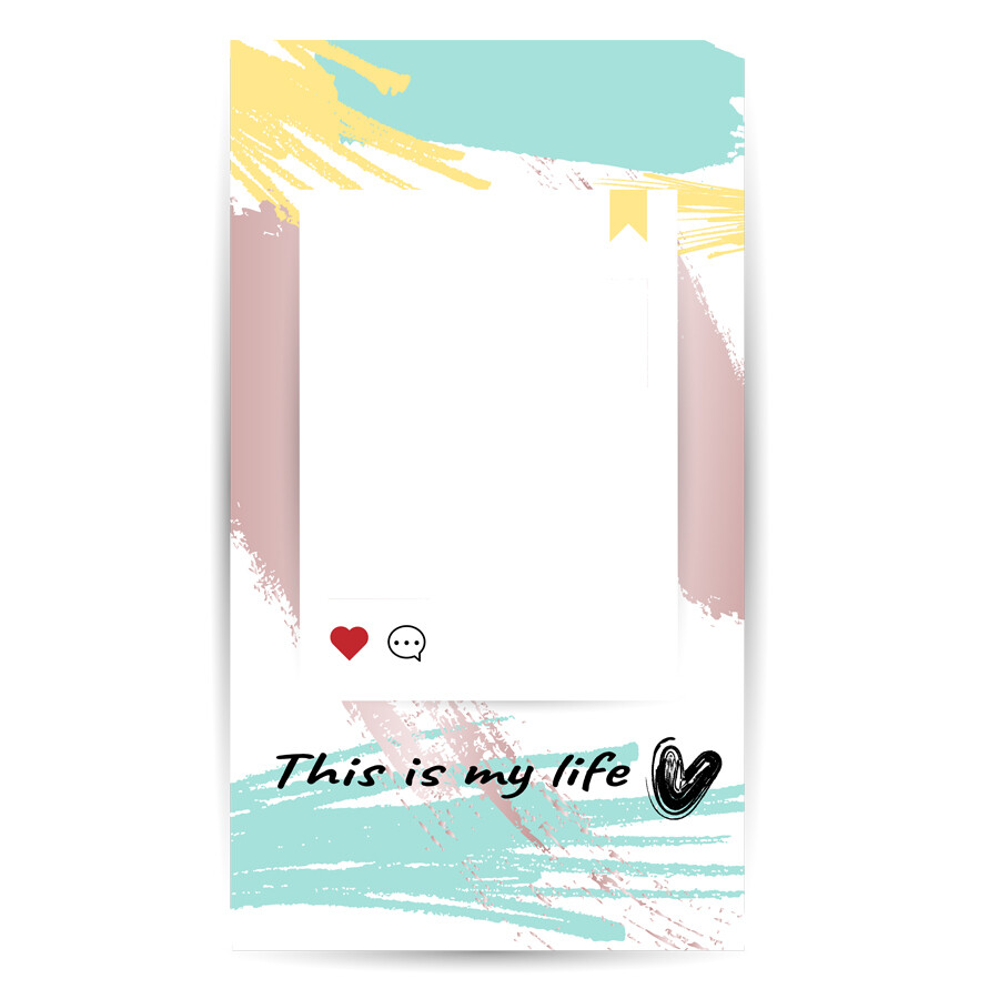 Digital file Instagram Colorful Brush Ins Story Text Box I