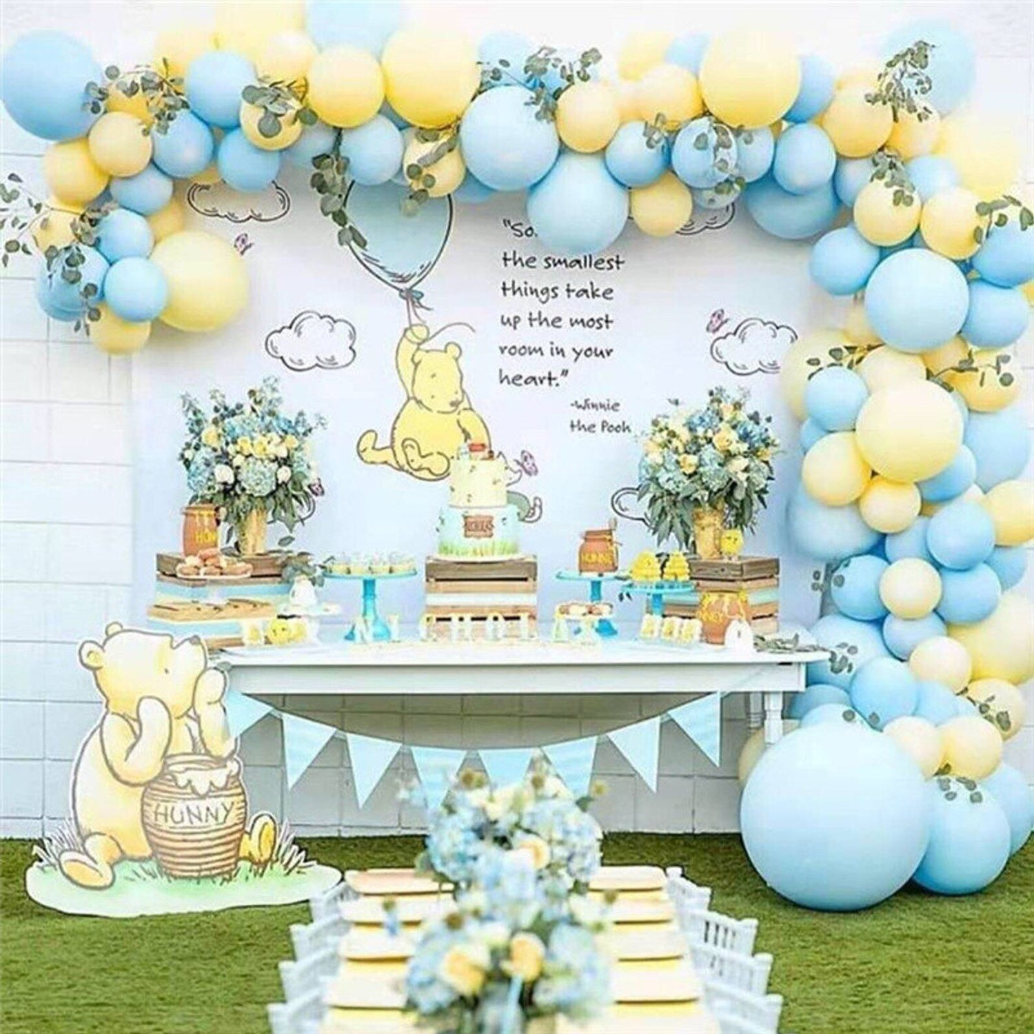 110pcs Pastel Macaron Blue Yellow Balloons Arch Kit Globos Birthday Party Decorations Kids Wedding Balloon Garland Party Supplies
