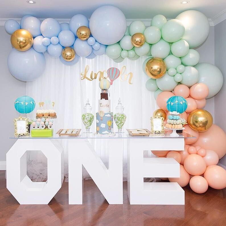 Pastel Balloon Garland Kit 78pcs Macaron Pink Latex Balloons 4D Chrome Ballon Baby Shower Wedding Birthday Party Decorations
