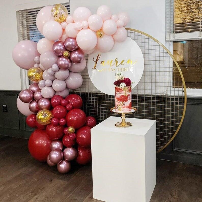 164pcs Macaron Balloons Garland Arch Kit Confetti Balloon Wedding Birthday Baby Shower Party Metallic Rose Latex Balloons Decor