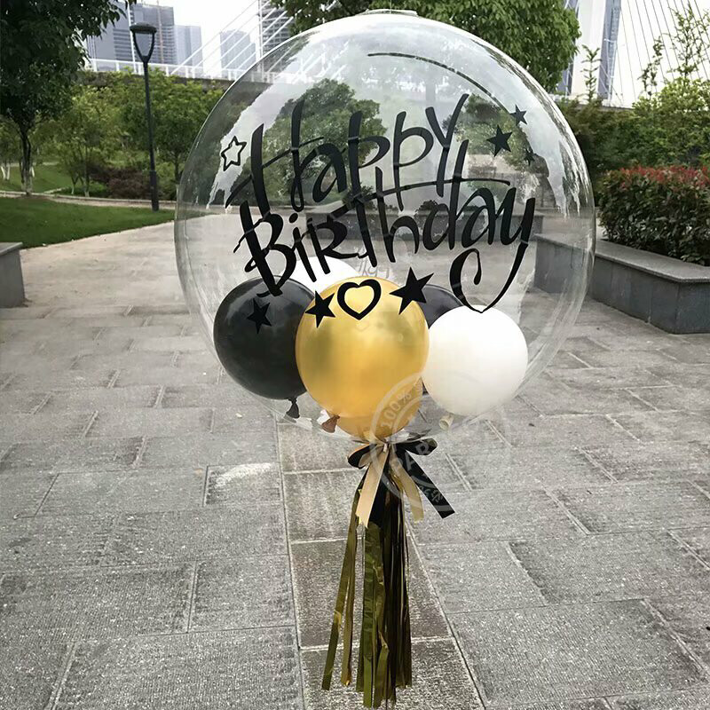 Personalised customize stickers for 18 24 32 inch bubble balloon Valentine's Day baby shower birthday Party wedding Decor