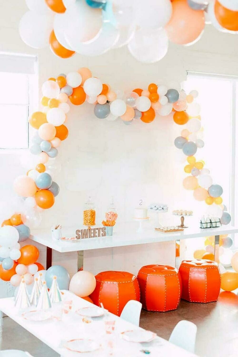 106pcs Macaron White Balloons Arch Garland adult 30st Happy Birthday Party Decorations 1st Round Globos Babyshower Supplies