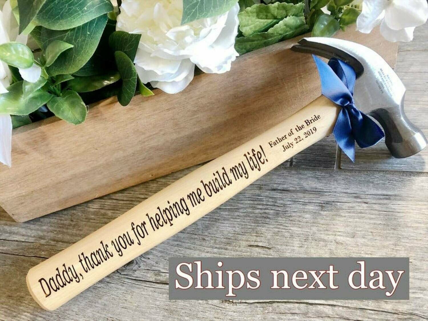 Personalised Engraved Hammer Father's Valentine's Birthday Gift Custom Present