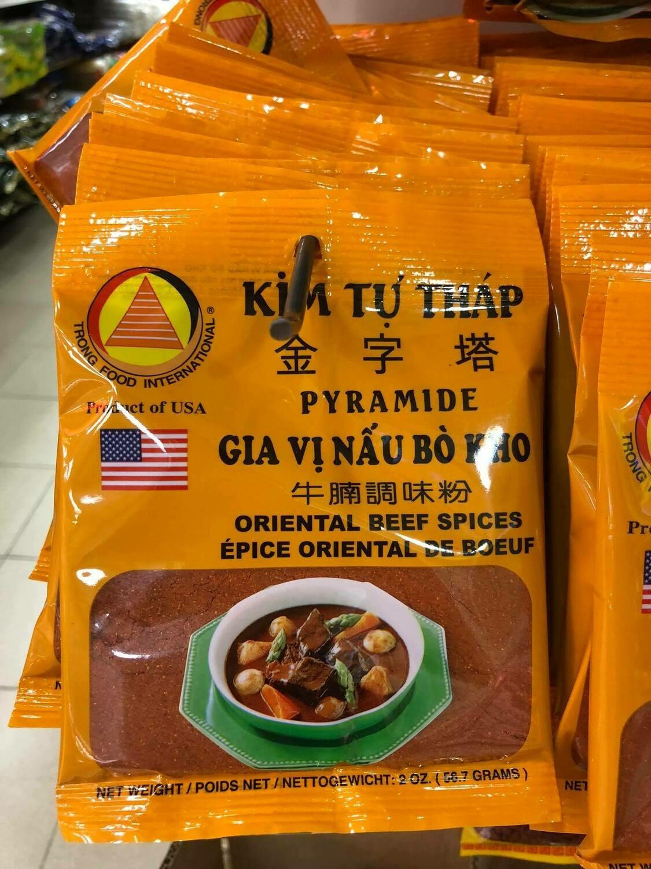 Bột gia vi nấu bò - kho Kim tự Tháp