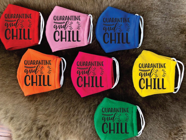 """Design Cotton masks """" Quarantine cna chill """""""