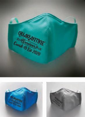 "A digital file "" Quarantine Survivor Covid 19 Est 2020""for mask"