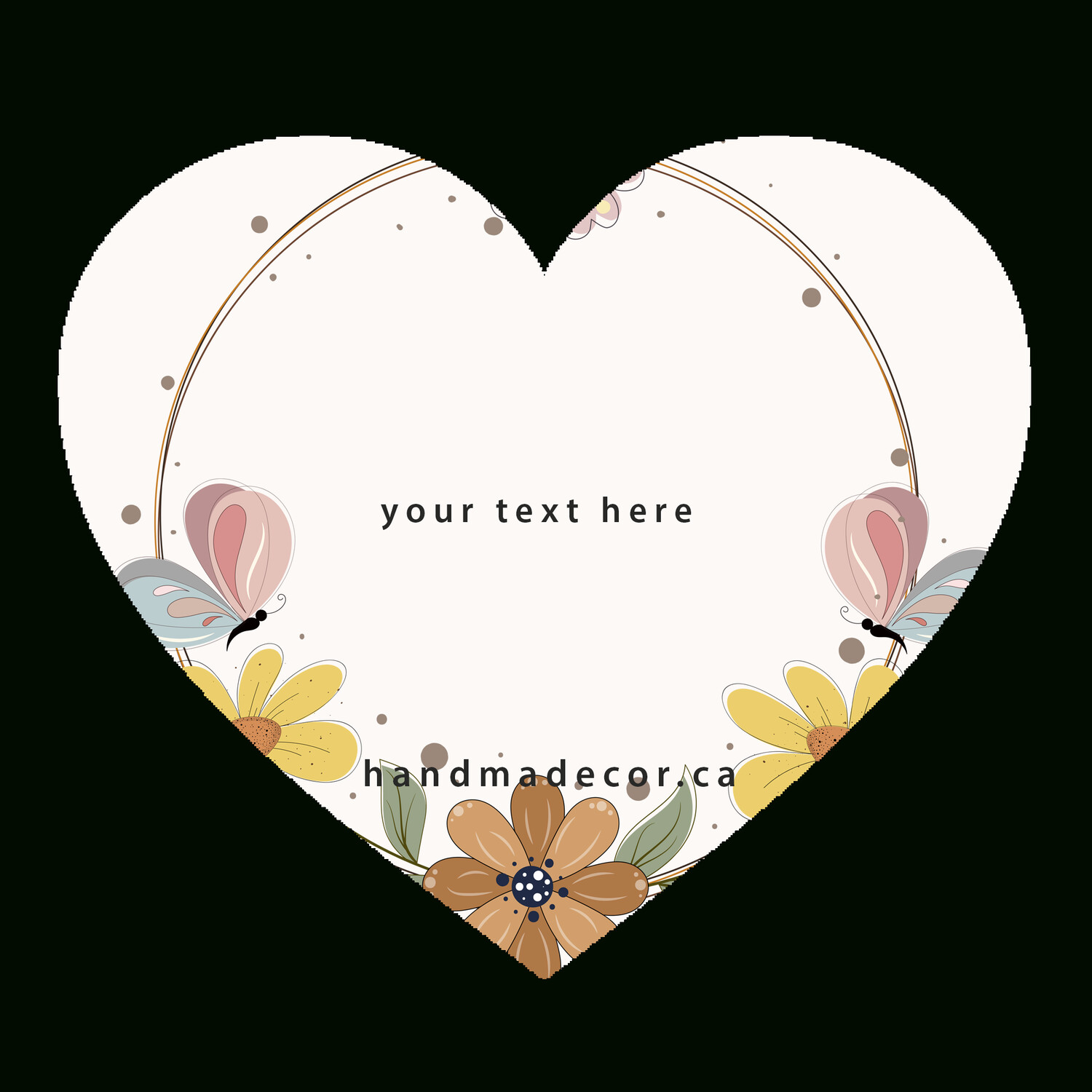 Thank You Stickers, Happy Mail Labels, Packaging Stickers-frame floral with flowers and_5510681