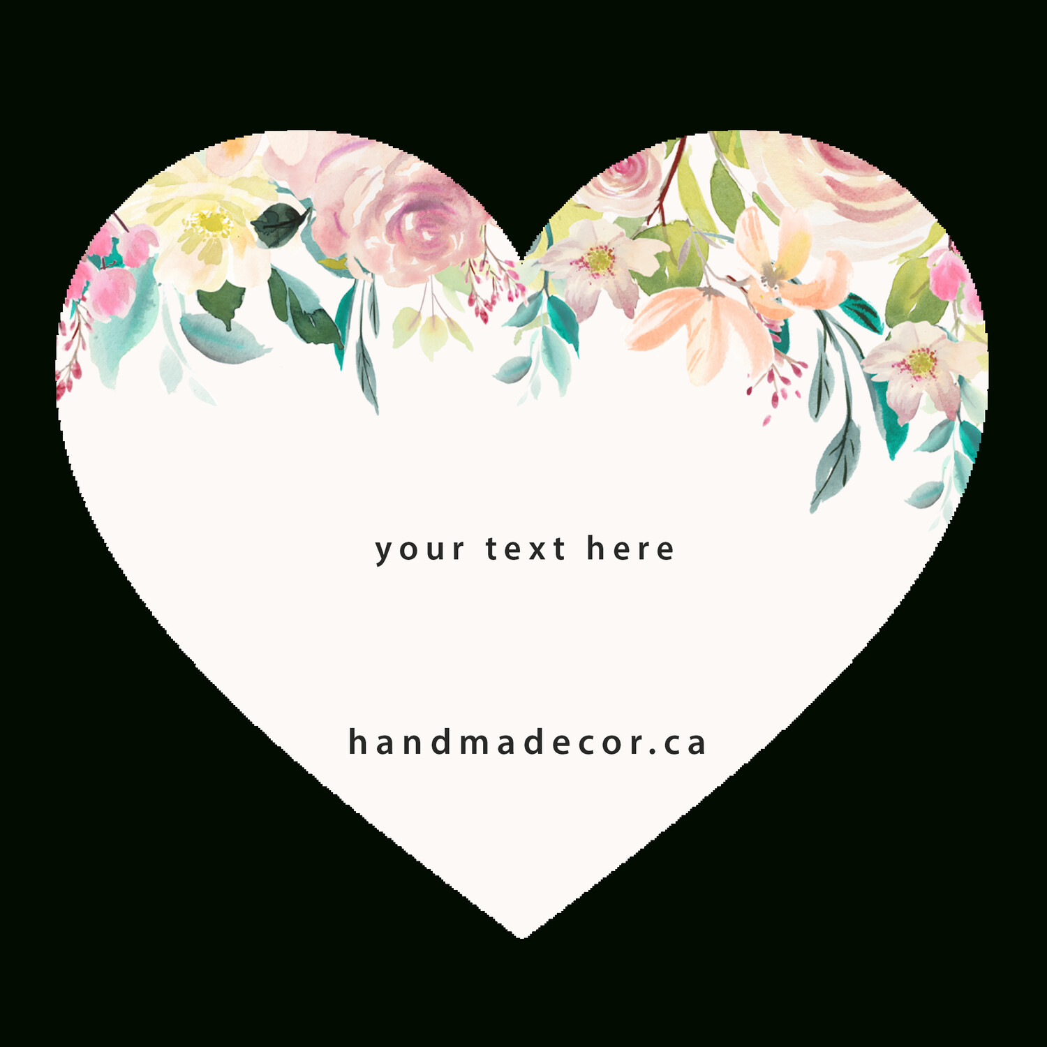 Thank You Stickers, Happy Mail Labels, Packaging Stickers-Watercolor Floral Flowers Frame