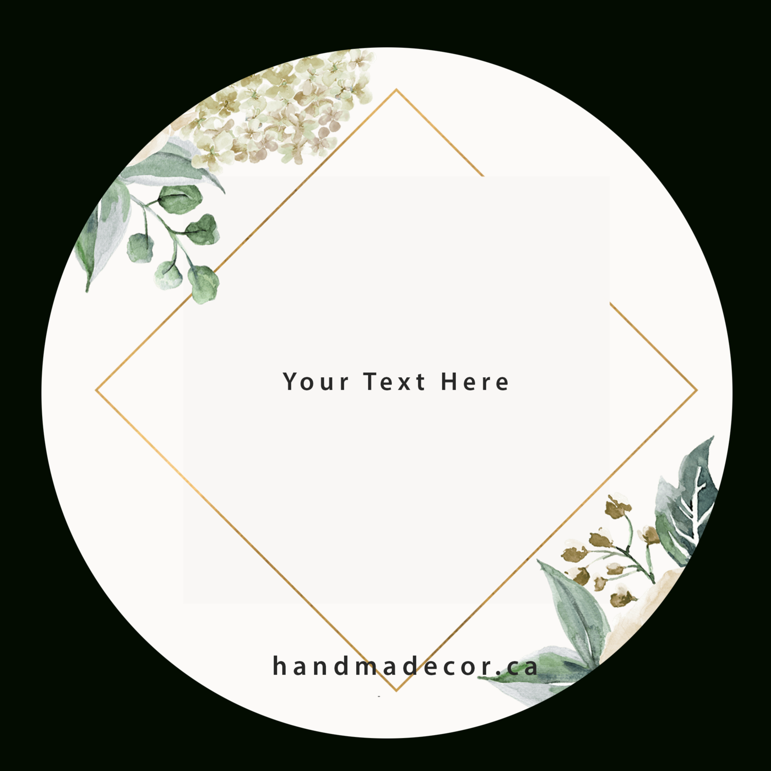 Digital Thank You Stickers, Happy Mail Labels, Packaging Stickers-Classic Floral Frame