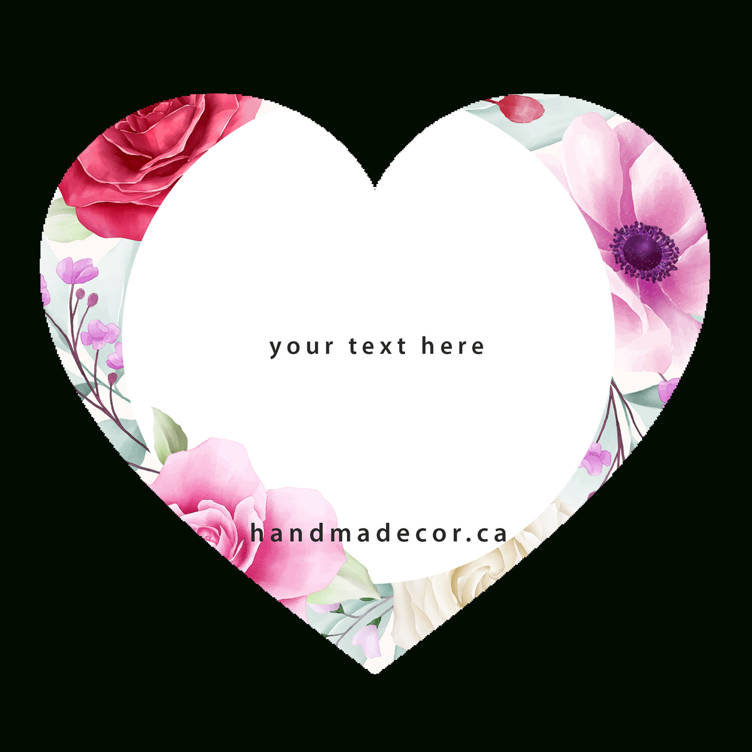 Thank You Stickers, Happy Mail Labels, Packaging Stickers-romantic round floral frame. elegant_4979770