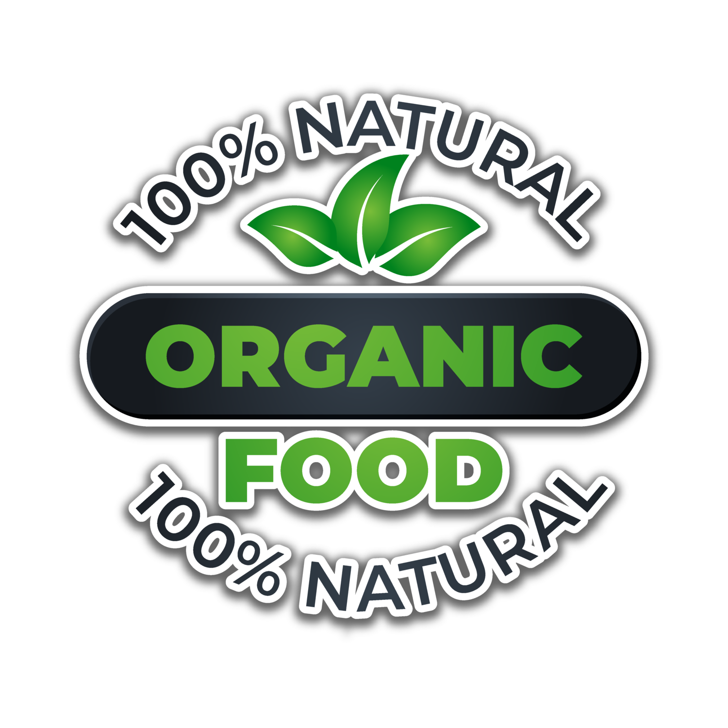 Thank You Stickers, Happy Mail Labels, Packaging Stickers-organic food label with circular_5512970