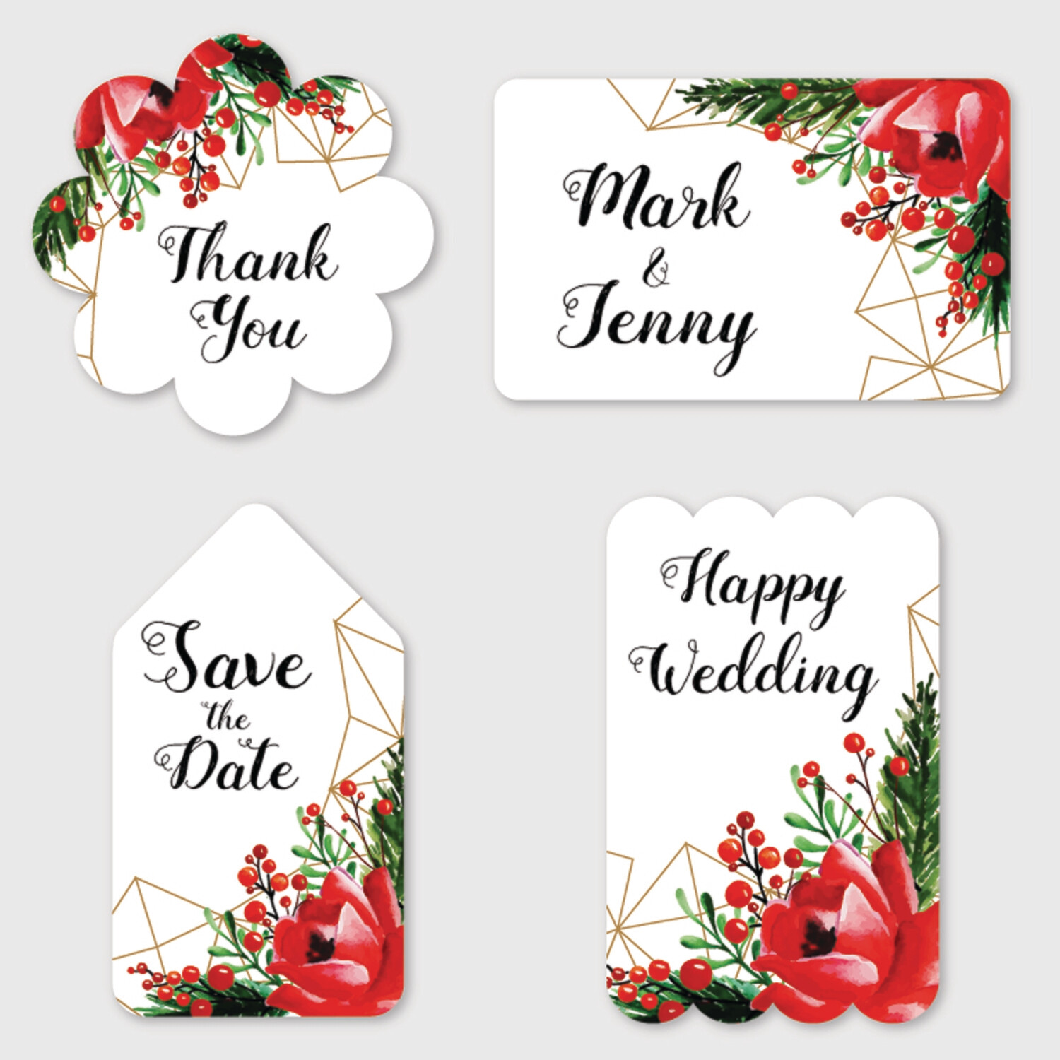 Digital Personalized Wedding Favor Stickers, Wedding Stickers, Stickers Favor for Wedding, Wedding Stickers for Favor, Personalized Stickers Wedding - Watercolor Floral Wedding Label Collection