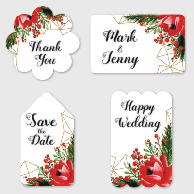 Personalized Wedding Favor Stickers, Wedding Stickers, Stickers Favor for Wedding, Wedding Stickers for Favor, Personalized Stickers Wedding - Watercolor Floral Wedding Label Collection