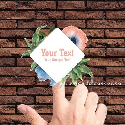 Thank You Stickers, Happy Mail Labels, Packaging Stickers, wedding stickers-Decorative Watercolor Flowers Wreath Badge