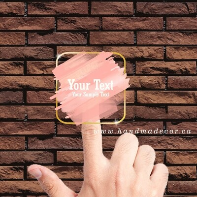 Thank You Stickers, Happy Mail Labels, Packaging Stickers-Golden Luxury Minimalistic Rounded Rectangle Border