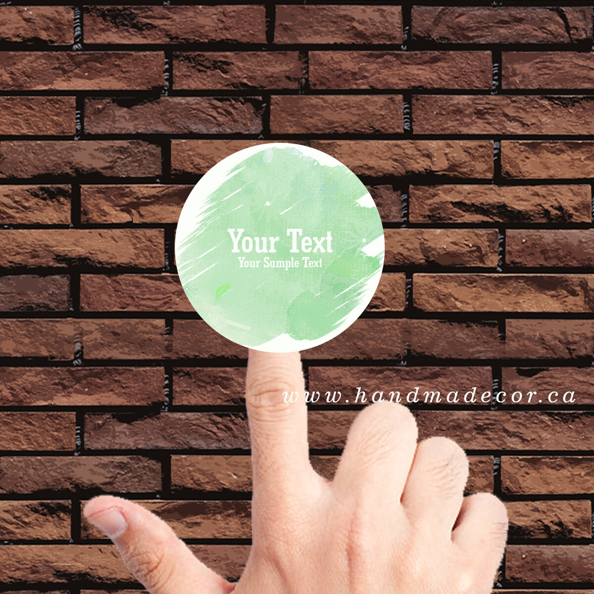 Thank You Stickers, Happy Mail Labels, Packaging Stickers-Green Watercolor Graffiti Brush Effect