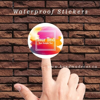 Thank You Stickers, Happy Mail Labels, Packaging Stickers-Colorful Watercolor Frame Hologram Paint Splash