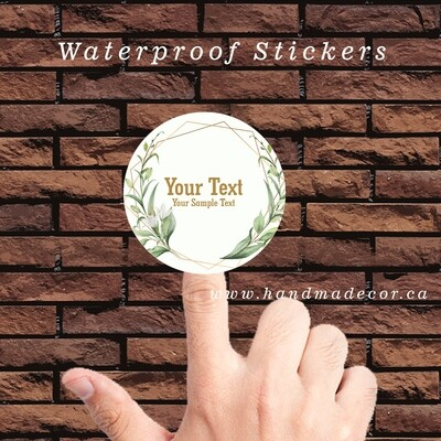 Thank You Stickers, Happy Mail Labels, Packaging Stickers-elegant leaf frames
