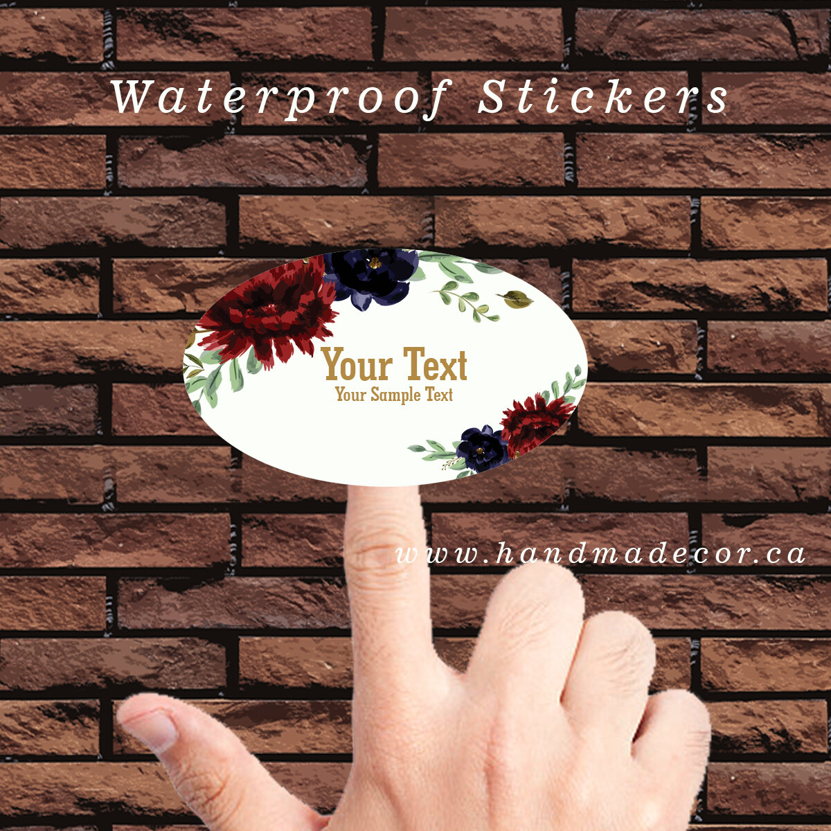 Thank You Stickers, Happy Mail Labels, Packaging Stickers, Favor Stickers - Wedding Favours, Party Favours-Burgundy Watercolor Wedding Card
