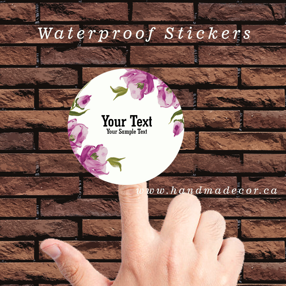 Digital Thank You Stickers, Happy Mail Labels, Packaging Stickers-Watercolor Floral Visiting Cards Premium Template