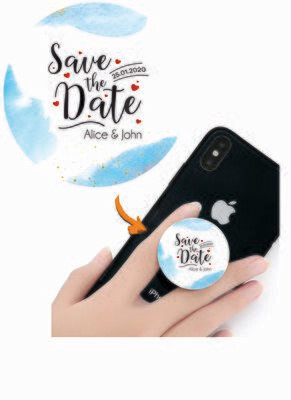 Phone Grips - PopSocket Custom - Personalized PopSocket- customized popsocket - PopSocket custom - wedding gift popsocket - Gold Foil Watercolor Bloom Gradient