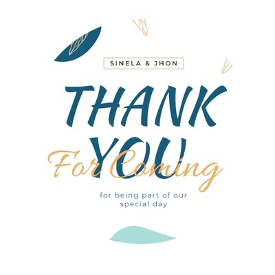 Thank You Stickers, Happy Mail Labels, Packaging Stickers-Blue Wedding Thank You Card