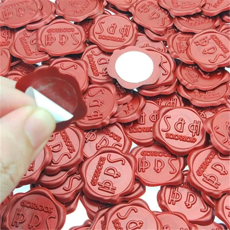 Custom Wax Seals, Invitation Wax Seal, Self Adhesive Wax Seal-Self Adhesive Wax Seal, Bulk Wax Seals, Bulk self adhesive wax seals, Customized Wax Seals-pre-stamped with your design size  25mm