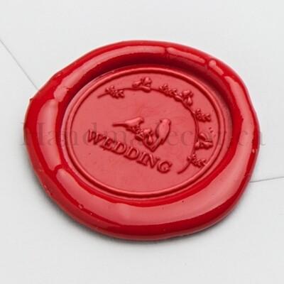 wedding bird self adhesive wax seal - Handmade Wax Seals (Peel n Stick Self-Adhesive Backing)