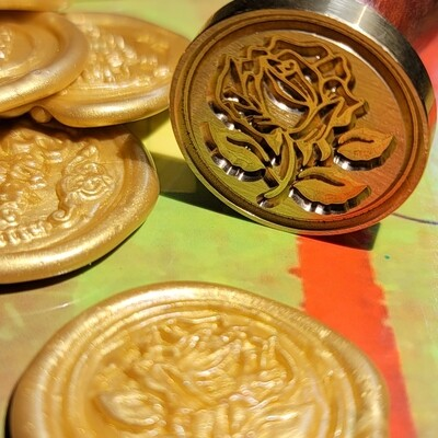 Design rose flower wax Seal Stamp