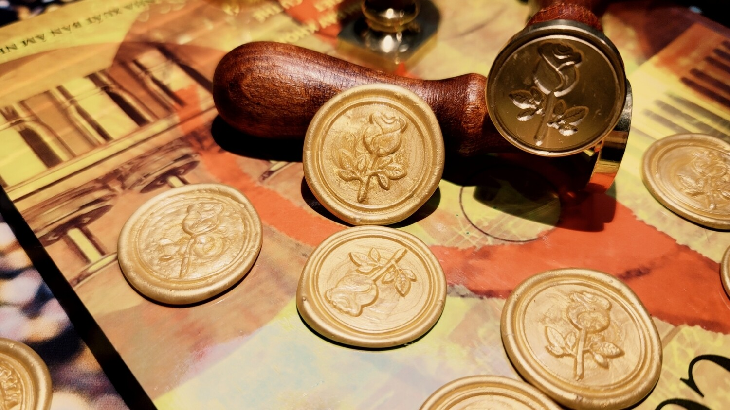 A Rose flower Wax Seal Stamp