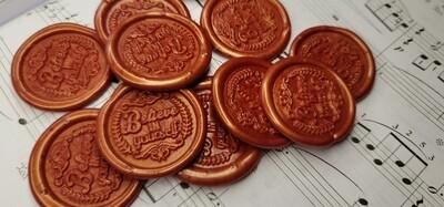 self adhesive belive in yourself Wax Seal Stamp - Handmade Wax Seals (Peel n Stick Self-Adhesive Backing)