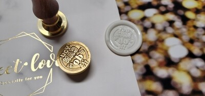 You can do it wax Seal Stamp