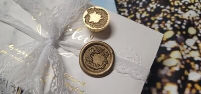 Flower Wreath Wax Seal Stamp