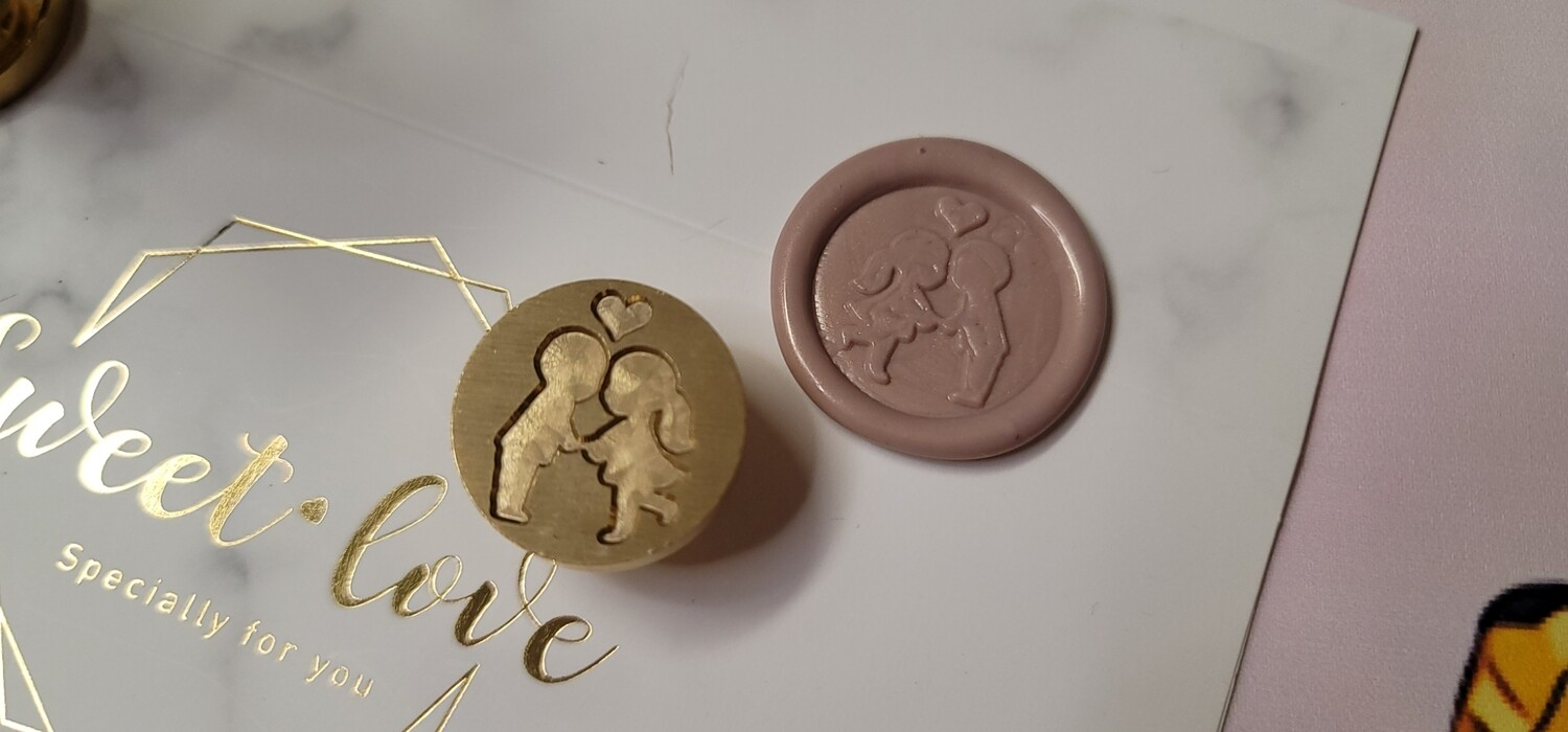 A couple and a heart Wax Seal Stamp