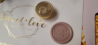 A branch of rose Wax Seal Stamp