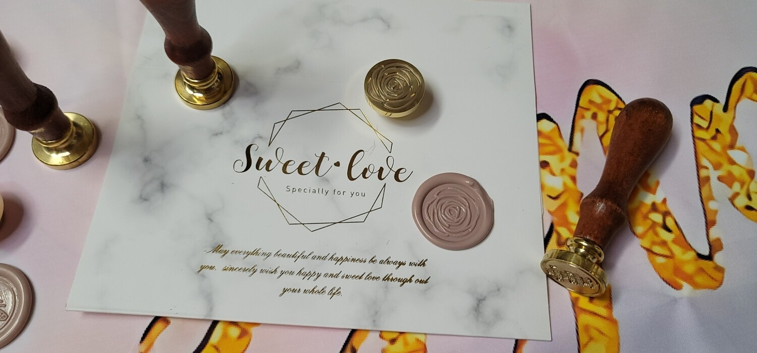 A rose shape Wax Seal Stamp