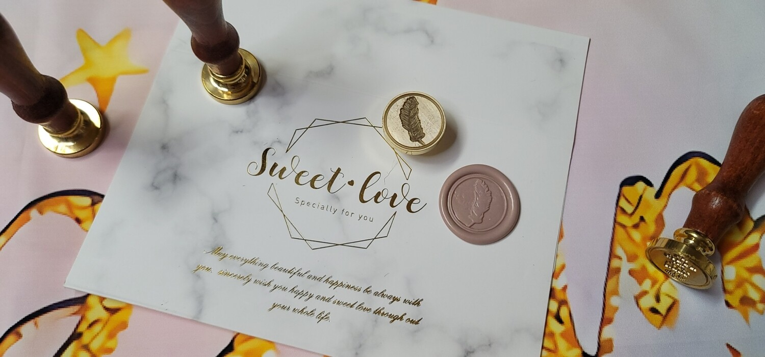 A feather  Wax Seal Stamp