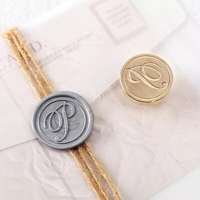 An alphabe Self Adhesive Wax Seal Stickers,wedding leaf wax stamp,envelope seal, an alphabe seal SELF-ADHESIVE - Handmade Wax Seals (Peel n Stick Self-Adhesive Backing)