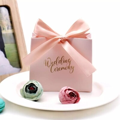 Pink Candy Box Wedding Favors Decoration and Paper Gifts Boxes Baby Shower Birthday Gift Bag Event Party Supplies