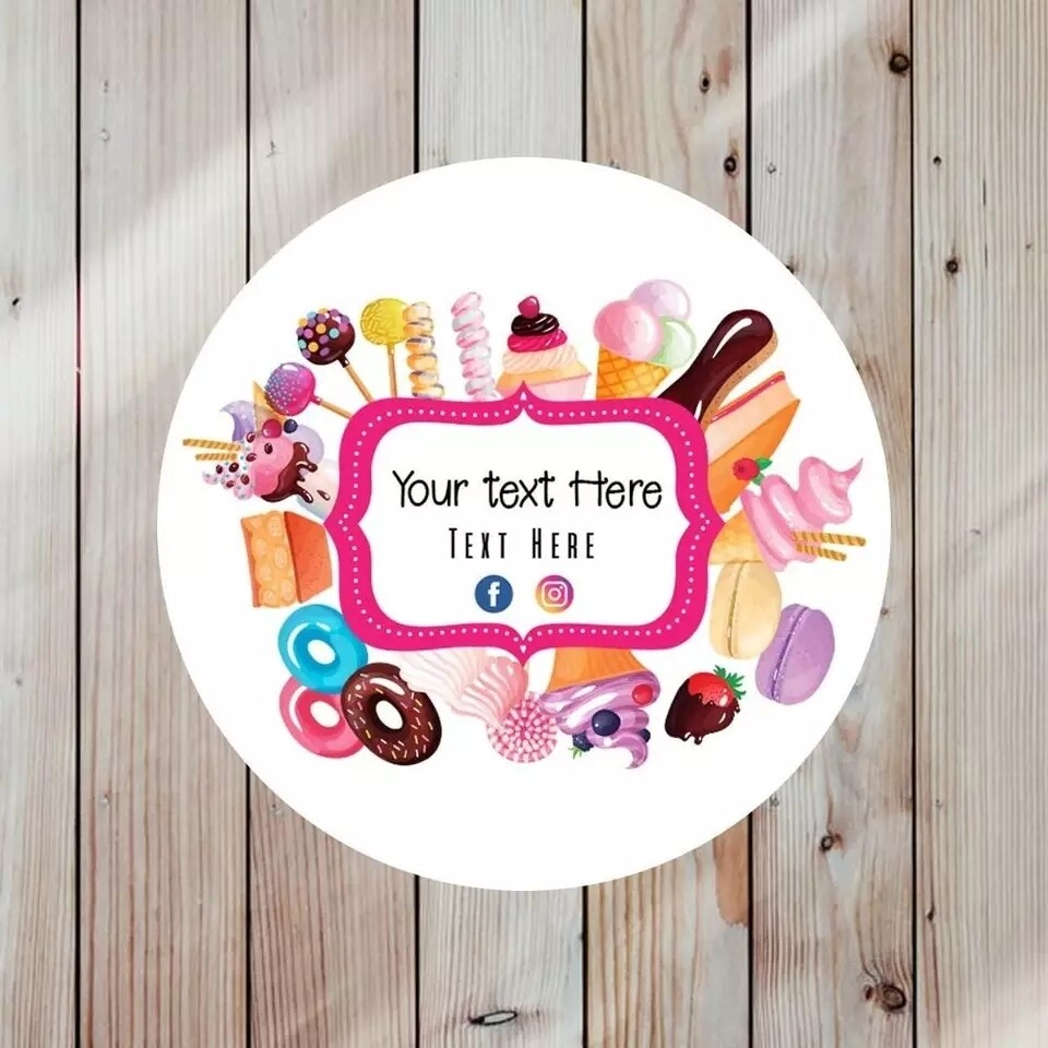 Thank You Stickers, Happy Mail Labels, Packaging Stickers- Custom logo, Personalized Labels, Custom stickers, Floral logo labels