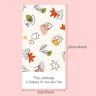 Thank You Stickers, Happy Mail Labels, Packaging Stickers- This Package Is Happy To See You Too Stickers Seal Labels Thank You Stickers For Small Business Handmade Commodity Decor
