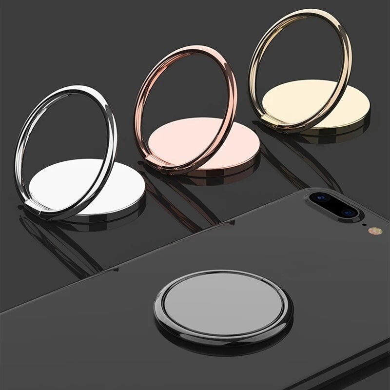 Luxury Spin Rotatable Phone Holder 360 Degree Rotatable Magnet Metal Finger Ring Smartphone Socket For Magnetic Smartphone Stand
