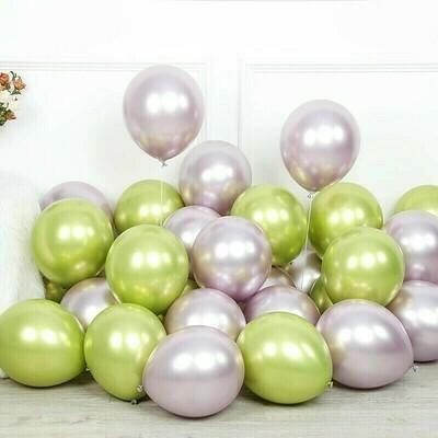 """12"""" Chrome metallic balloon"""