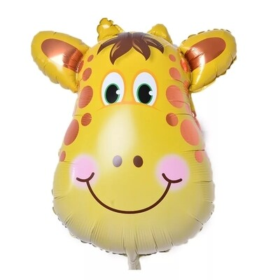 Mini animal head Foil Balloons inflatable air balloon happy birthday party decorations kids baby shower party supplies