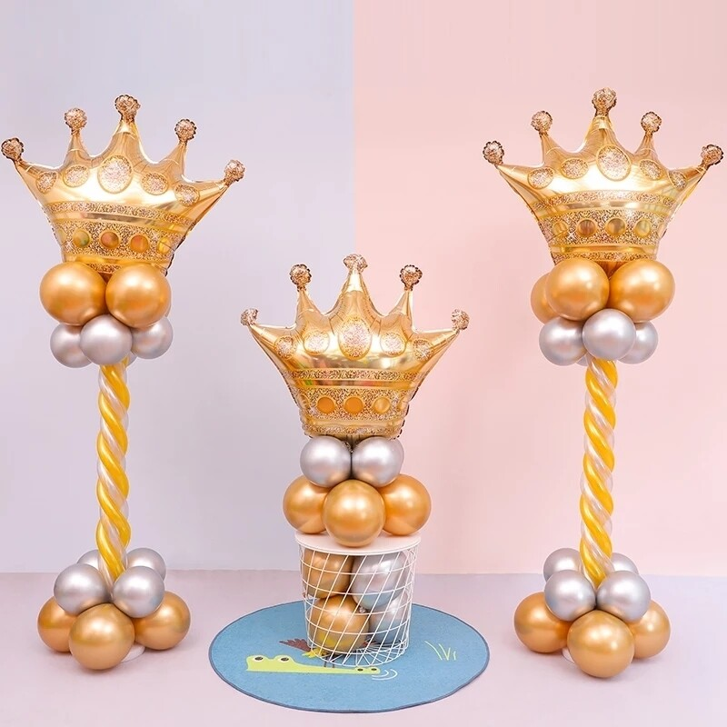 39inch Gold Crown Foil Balloons Prince Princess Baby Shower 20 1st Birthday coroa Party Balon Decorations adult globos