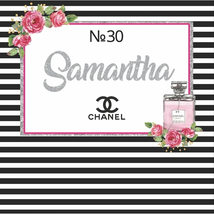 Chanel Backdrop For sweet 16 Birthday Party Photography Backgrounds Photo Studio Custom