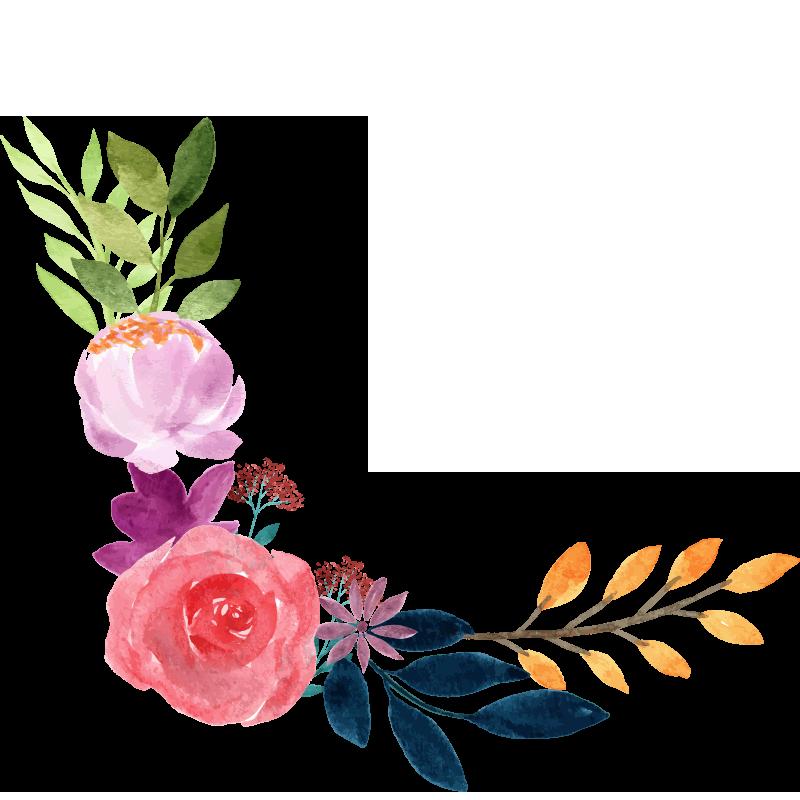 Painted Floral Bouquet