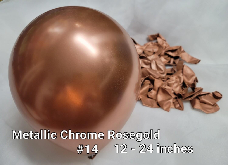 Metallic Chrome Rosegold balloon
